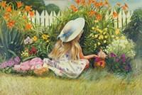In Mother's Garden Fine Art Print