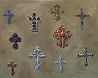 Wall of Crosses Fine Art Print