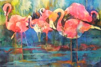 Flirty Flamingos Fine Art Print
