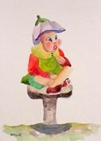 Leprechaun Mushroom Fine Art Print