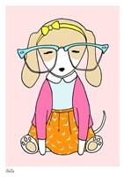 Geek Dog Girl Fine Art Print