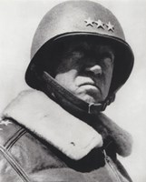 General George Patton in command of the US 7th Army in World War Two Fine Art Print