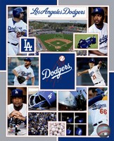 Los Angeles Dodgers 2015 Team Composite Framed Print