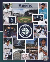 Seattle Mariners 2015 Team Composite Framed Print
