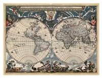 Nova et Accuratissima Totius Terrarum Orbis Tabula Fine Art Print