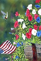 Garden Glory Hummingbird Fine Art Print