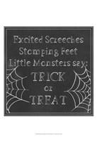 Spooky Chalkboard I Fine Art Print