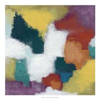 Color Cascade I Framed Print