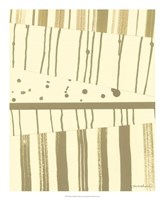 Papyrus Collage I Framed Print
