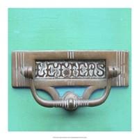 Rustic Turquoise Details III Fine Art Print