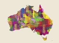 Australia Map 2 Fine Art Print