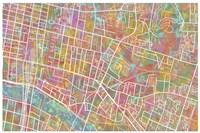 Glasgow Street Map 1 Fine Art Print