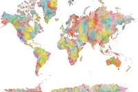 World Map 1 Fine Art Print