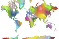 World Map 2 Fine Art Print
