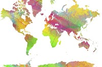 World Map 9 Fine Art Print