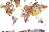 World Map Rock 1 Fine Art Print