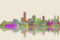 Adelaide SA Skyline 2 Framed Print