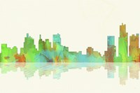 Detroit Michigan Skyline 1 Fine Art Print