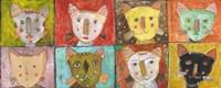 8 Cats Fine Art Print