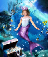 Mermaid Princess Fine Art Print