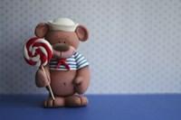 Bear Lollipop Sailor Fine Art Print