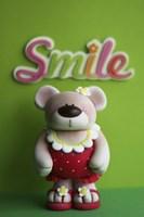 Bear Red Bathingsuit Smile Fine Art Print