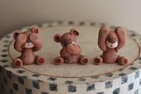 Bears Hear See Speak Fine Art Print