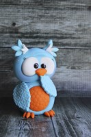 Owl Blue Ooops Fine Art Print