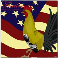 Rooster Freedom Fine Art Print