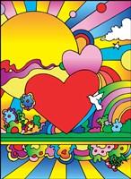 Cosmic Heart Landscape Fine Art Print