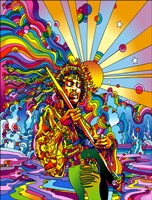 Jimi Color Framed Print