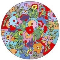 Flower Circle Fine Art Print