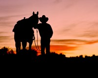 Cowboy Sunset Fine Art Print