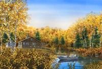 Fall Cabin Fine Art Print