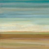 Turquoise Horizons I Framed Print