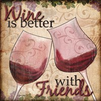 Wine With Friends II Fine Art Print