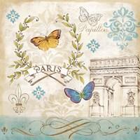 Le Papillon Paris II Framed Print