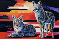 Two Coyotes Fine Art Print