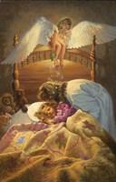 The Kissing Angel Fine Art Print