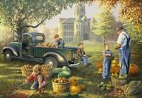 Little Farmers Market Fine Art Print