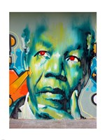 Graffiti de Mandela Fine Art Print