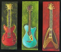 Three Guitars 2 Fine Art Print