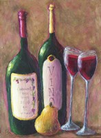 Wine and Pear for Two Fine Art Print