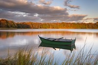 Green Boat on Salt Pond Fine Art Print
