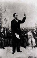 Lincoln's Address at Gettysburg, 1895 Fine Art Print