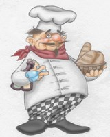 Busy Chef Fine Art Print