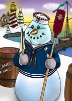 Snowman Fine Art Print