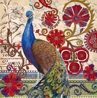 Peacock Decore II Fine Art Print