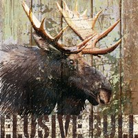 Open Season Moose Fine Art Print