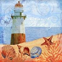 Ocean Breeze Lighthouse Fine Art Print